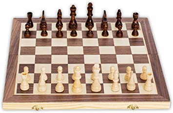 Small CHESS GAME SET BOARD 24 cm Player Champion Birthday PRESENT GIFT Idea