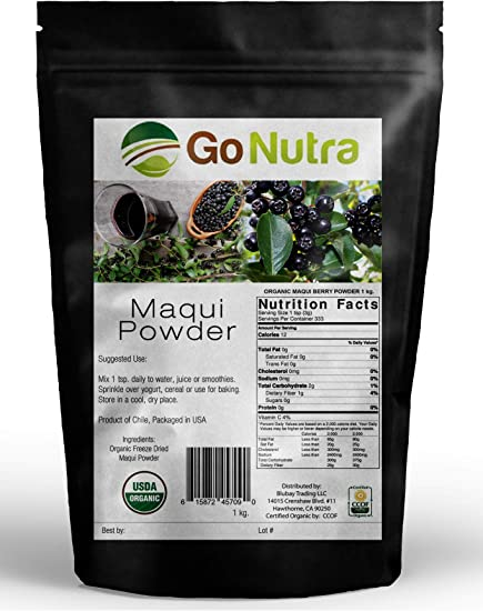 Amazon Com Organic Maqui Berry Powder Freeze Dried Antioxidants