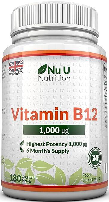 148 opinioni per Vitamina B12 (Metilcobalamina) da 1000mcg, 180 Tavoletta (Fornitura Per 6 Mesi)-