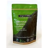 JASPER COFFEE Jasper Fairtrade Organic Freeze Dried Instant Coffee, 100 Grams
