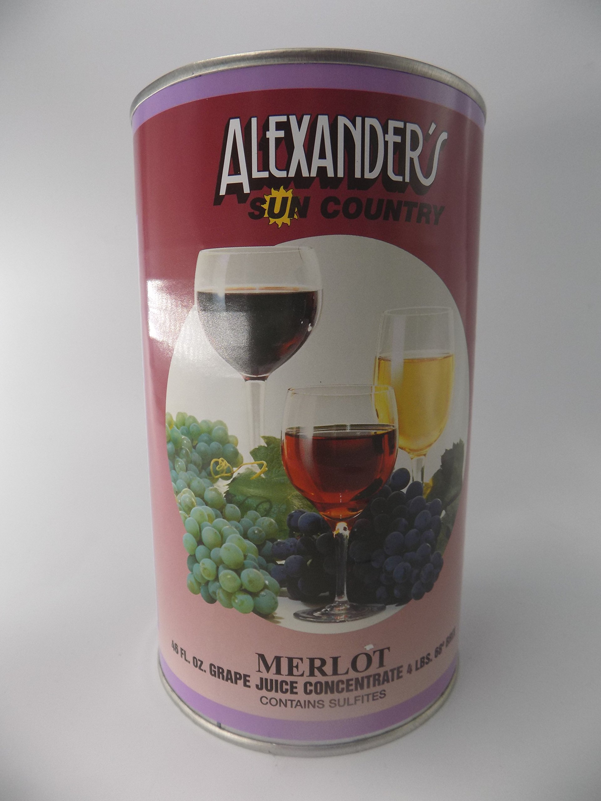 Alexanders Sun Country Wine Grape Concentrate- Merlot 46 oz can