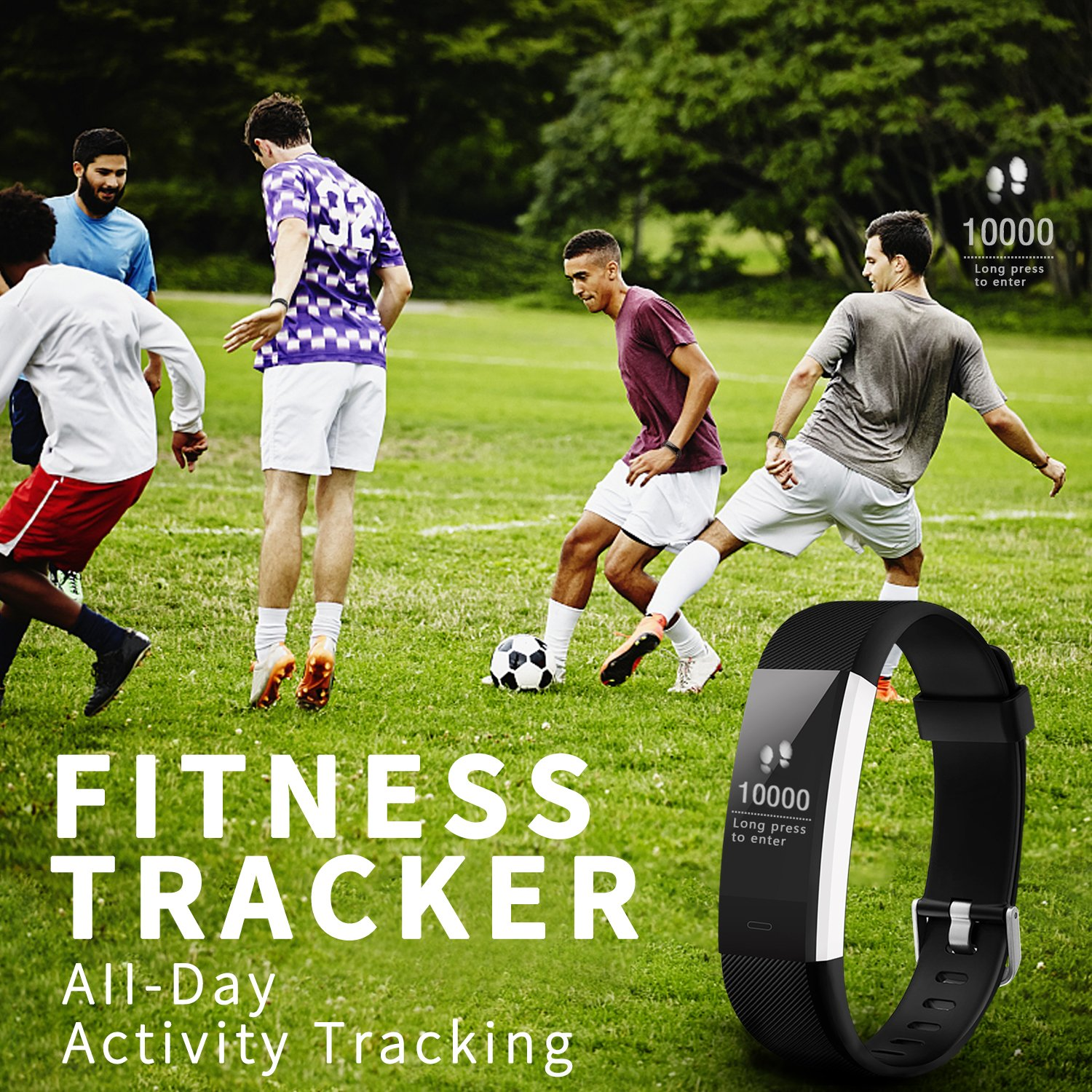 Fitness Tracker Activity Tracker Aneken Smart Band Heart Rate Sleep Monitor Waterproof Smart Bracelet Bluetooth Pedometer Wristband Smart Watches for Android and iOS Smart Phones by ANEKEN (Image #3)