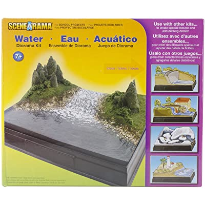 Woodland Scenics SP4113 Scene-A-Rama Water Diorama Kit, Multicolor: Home & Kitchen