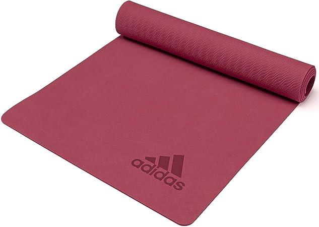 Amazon.com : adidas Premium Yoga Mat - Mystery Ruby, 5mm ...