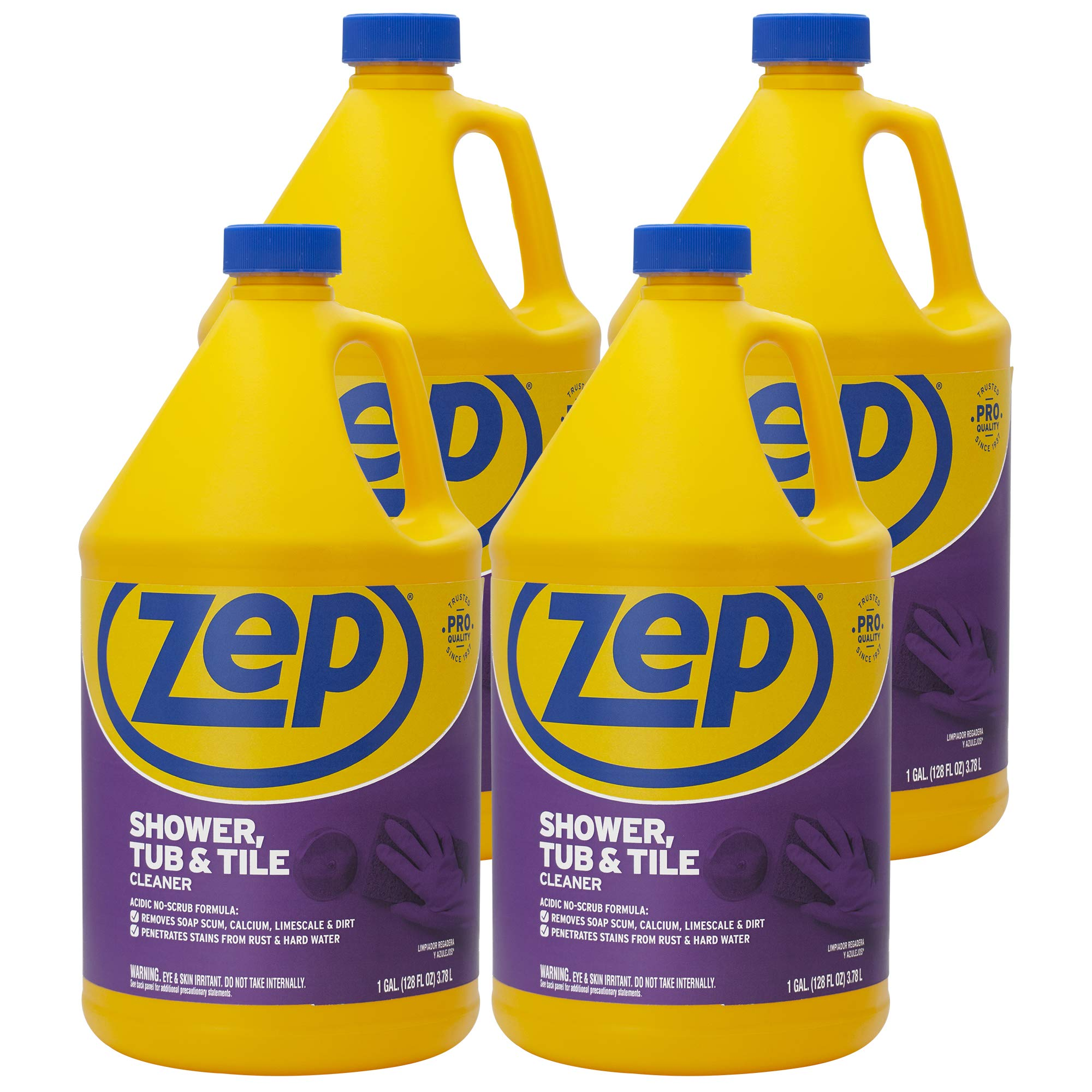 Zep Shower Tub and Tile Cleaner 128 Ounce ZUSTT128 (Case of 4) by Zep