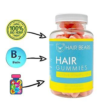 Hair Skin And Nail Vitamin Gummy Bears Hemp For Healthy Hair Growth And Strength Proprietary