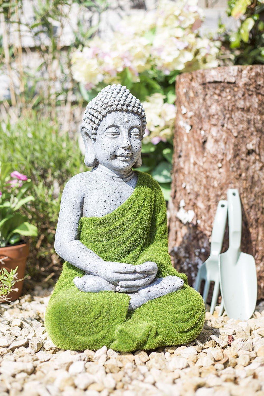 La Hacienda grande con Buda adorno de jardín: Amazon.es: Jardín
