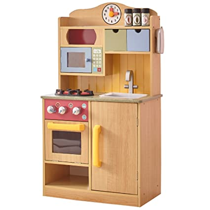 Superieur Teamson Kids Little Chef Wooden Toy Play Kitchen With Accessories    Burlywood