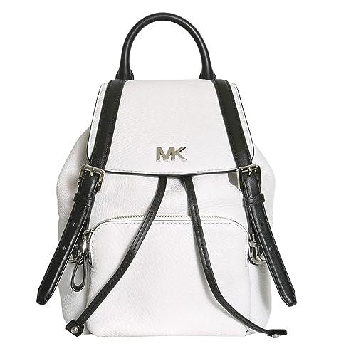 MICHAEL by Michael Kors Beacon Mochila de Cuero Blanco y Negro para Mujer uni Bianco: Amazon.es: Zapatos y complementos