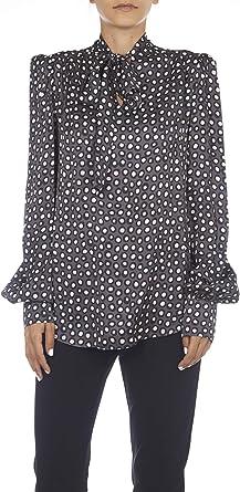 MANILA GRACE Camisa con lazo gris 42: Amazon.es: Ropa y ...