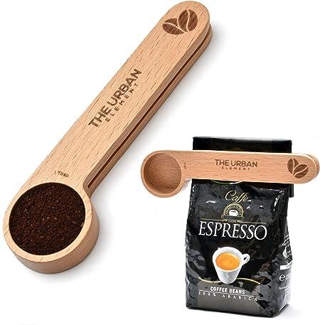 Wooden Coffee Scoop & Bag Clip