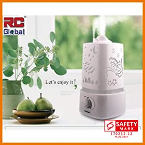 RC-Global Deluxe Humidifier Air Fresher 5 in 1 Ultrasonic humidifier Aroma oil Diffuser Air Purifier ( 五彩ç†é¦™åŠ湿机)