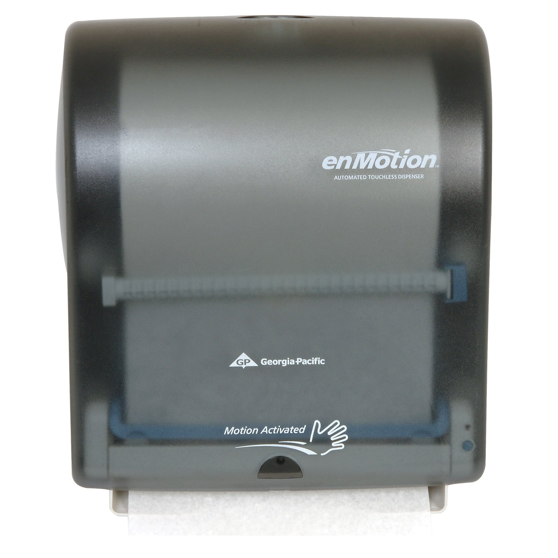 Georgia-Pacific enMotion 594-62 14.8'' Width x 16.75'' Height x 9.75'' Depth, Translucent Smoke Wall Mount Automated Touchless Towel Dispenser