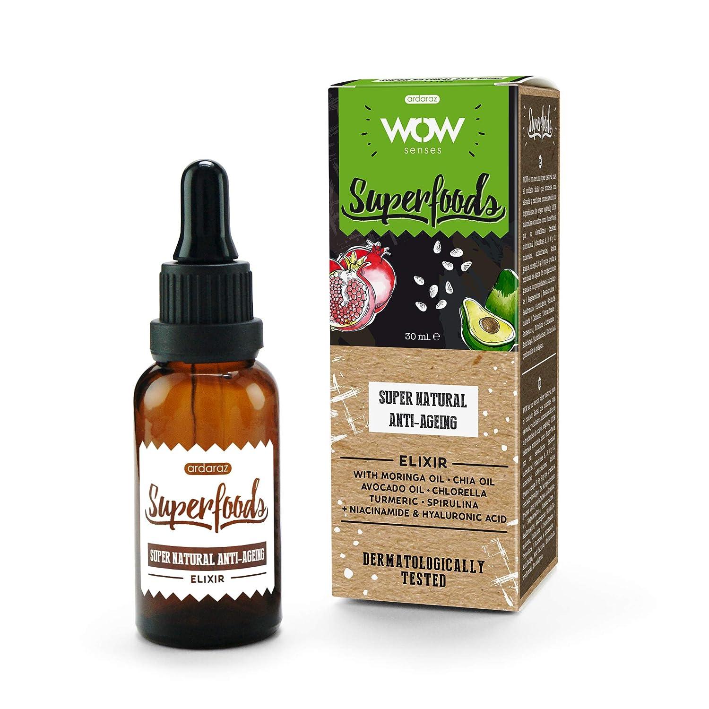 Ardaraz Serum Facial antiarrugas con Acido Hialuronico puro Vitamina A, B, C y D e ingredientes de origen vegetal y naturales Aguacate, Granada, ...