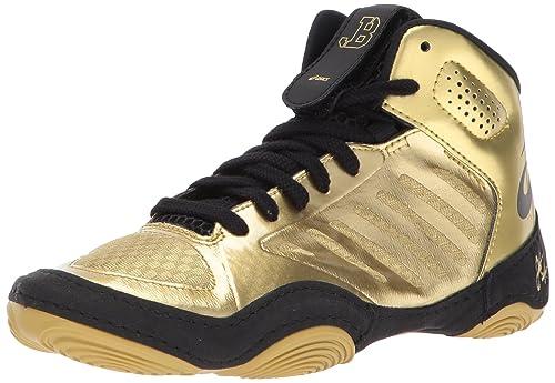 b39f36cb8e22 ASICS JB Elite III GS Shoe Kid s Wrestling 13K Rich Gold-Black ...