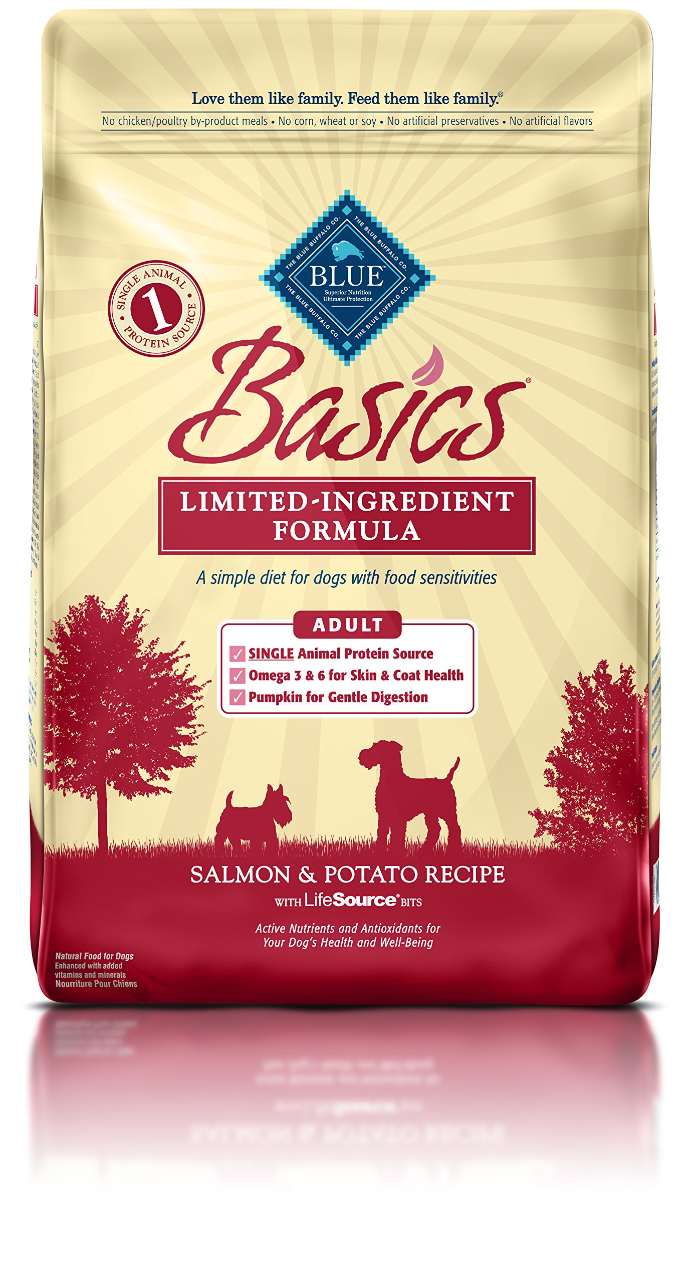 Blue Buffalo Basics Limited-Ingredient Dry Adult Dog Food Salmon and Potato