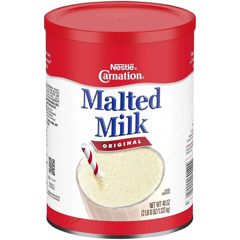 Carnation Malted Milk, 40 oz Can (Dry Shelf Stable Malted Milk, Great for Baking, Shakes, Sundaes)