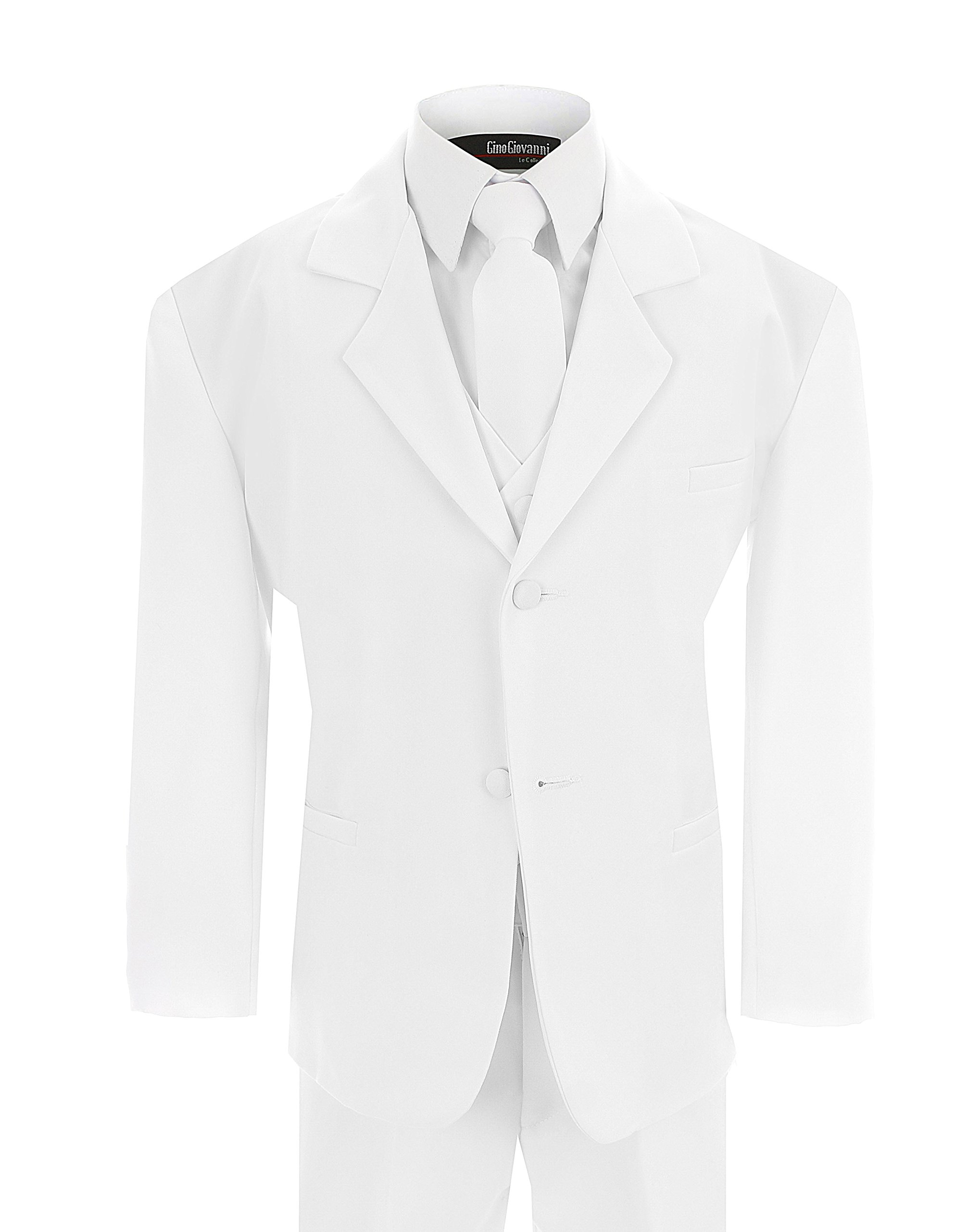 Big Boy's Formal Dresswear Set G214 (10, White Suit) by Gino Giovanni (Image #1)