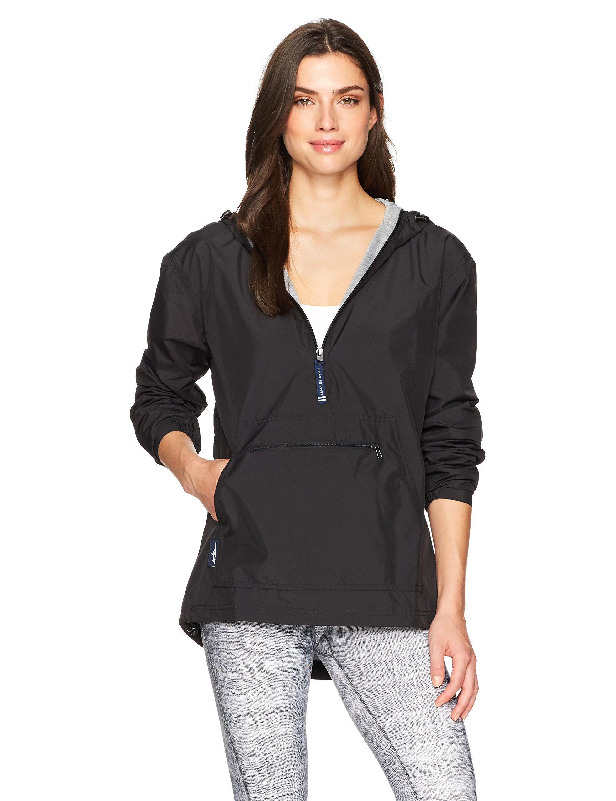 Charles River Apparel Women's Chatham Anorak, Black, S