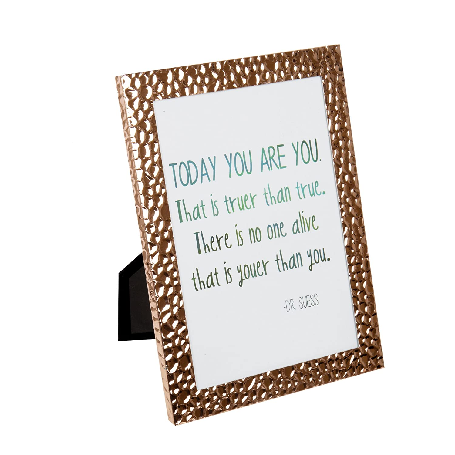 Truu Design Metal Picture 5 x 7 Crushed Frame, Rose Gold CTG Brands 66188