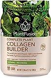 PlantFusion Collagen Builder Plant Based Peptides Protein Powder | Vegan Collagen Supplement |Collagen Building, Skin Hydration, Joint Support, Healthy Hair, Gluten-Free, Non-GMO, Unflavored, 17.64 Oz