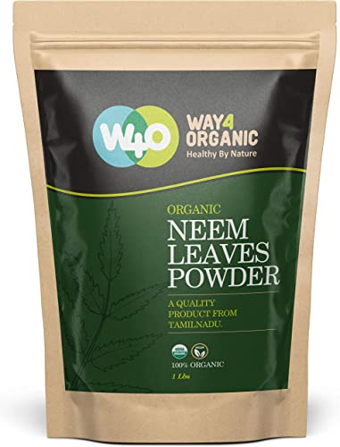 Organic Neem Powder 16 Ounces 1 Pound – USDA Certified Organic. No Preservative and all Natural – HerbsIndia
