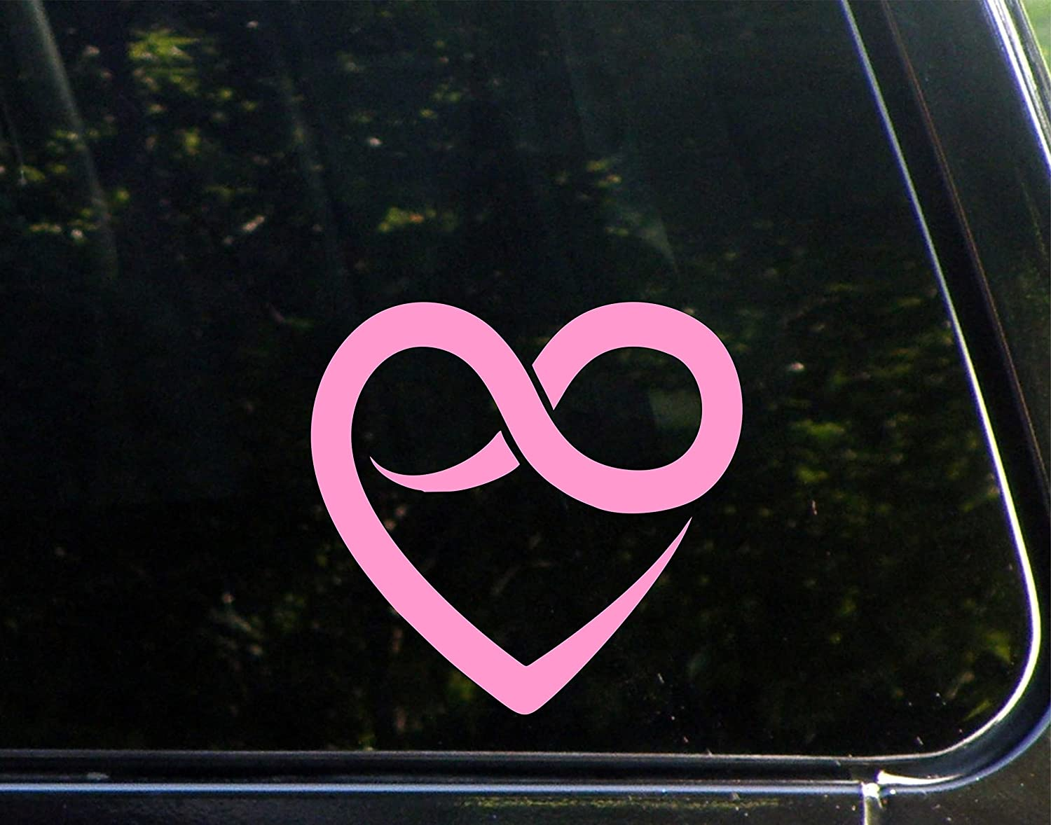 Amazon heart with infinity symbol 6 x 5 12 pink vinyl amazon heart with infinity symbol 6 x 5 12 pink vinyl die cut decal bumper sticker for windows cars trucks laptops etc automotive buycottarizona Image collections