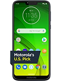 Moto G7 Power with Alexa Push-to-Talk – Unlocked – 32 GB – Marine Blue – Verizon, AT&T, T–Mobile, Sprint, Boost, Cricket...