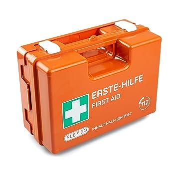 Erste Hilfe Koffer Für Betriebe Mit Inhalt Nach Din 13157 In Orange Verbandkasten Gefüllt Und Mit Wandhalterung