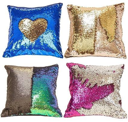 Amazon 40pcs Premium Sequins Throw Pillow Case Reversible Magnificent Diy Decorative Pillow Covers
