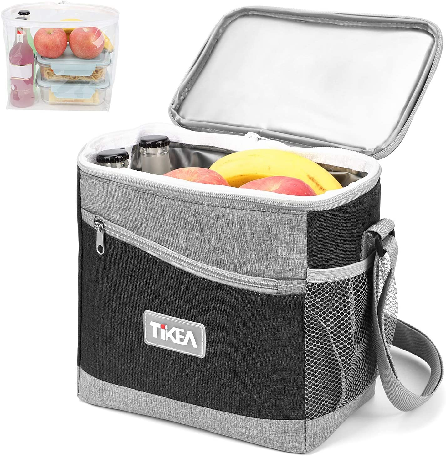 Tikea Insulated Lunch Bag - Lunch Tote Bag Thermal Lunch Box for Work School Men Women, Waterproof and Leakproof Removable Liner