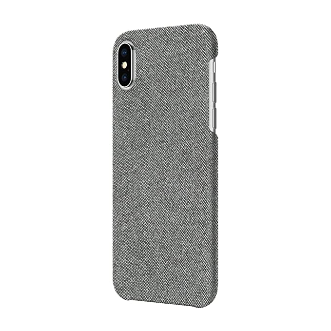 free shipping 01b33 6c980 Incipio Slim Case iPhone X Case for iPhone X - Gray Fabric