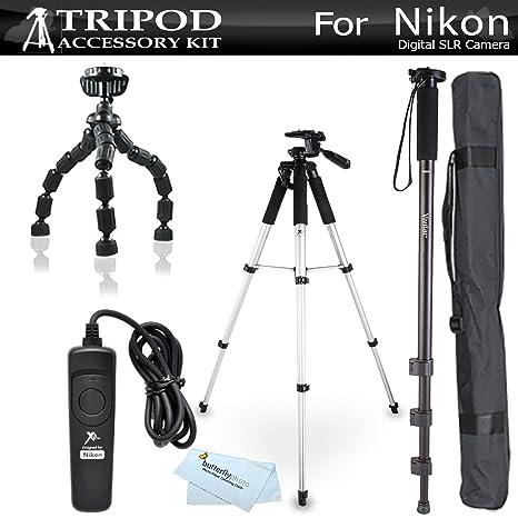 Kit de trípode para Nikon Df, D5300 D3300 D5200 D3200 D3100 D5100 ...
