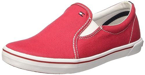 Tommy Hilfiger S3285LATER 2D_1 - Zapatillas de Lona para niño Rojo Rosso (Tango Red 611) 39: Amazon.es: Zapatos y complementos