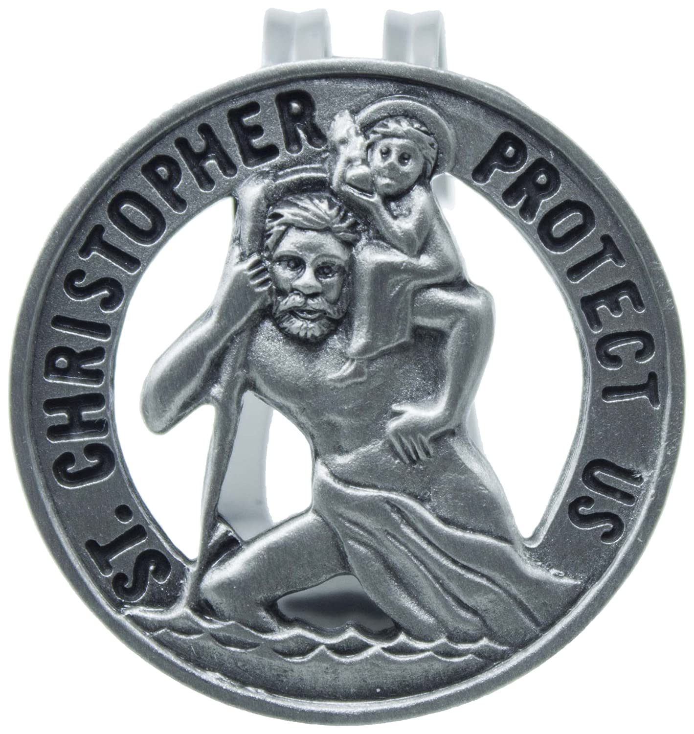 CA Gift KVC105 Auto Visor Clip, St. Christopher, 2-3/8' 2-3/8 Cathedral Art