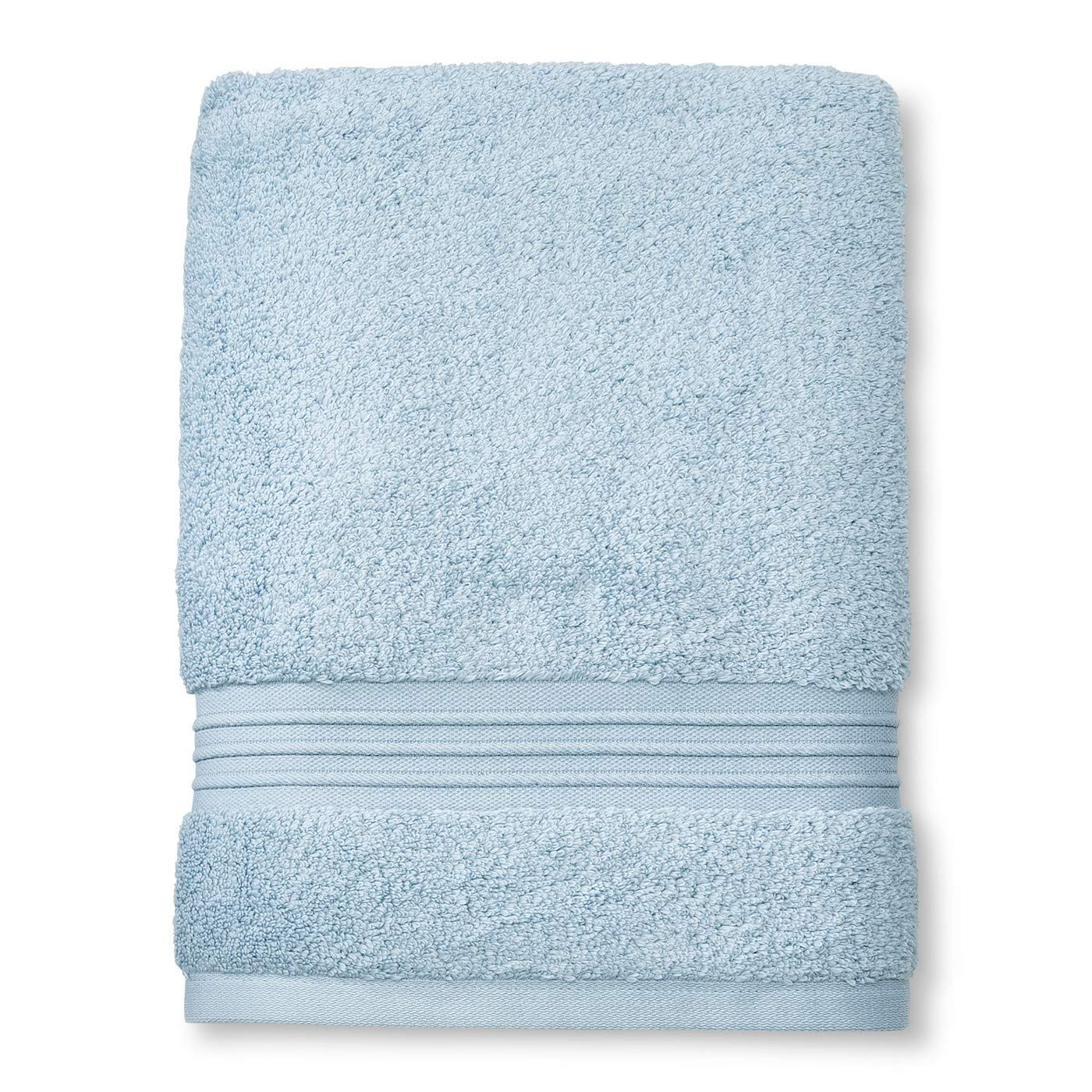 Fieldcrest Spa Collection Glowing Blue Bath Towel