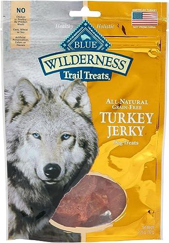 Blue Buffalo Wilderness Turkey Grain Free Dog Jerky Treats – Made in USA – 1 to 4 Bags 3 Bags