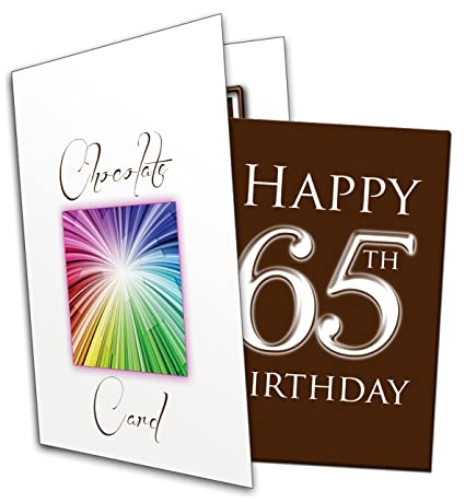 Alles Gute Zum 65 Geburtstag QuotHappy 65th Birthdayquot Chocolate Card
