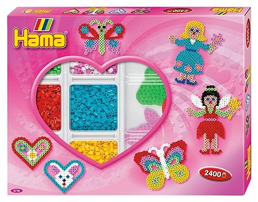 Hama 3718 Original Bügelperlen Kreativbox Herzen Ca 2400 Perlen