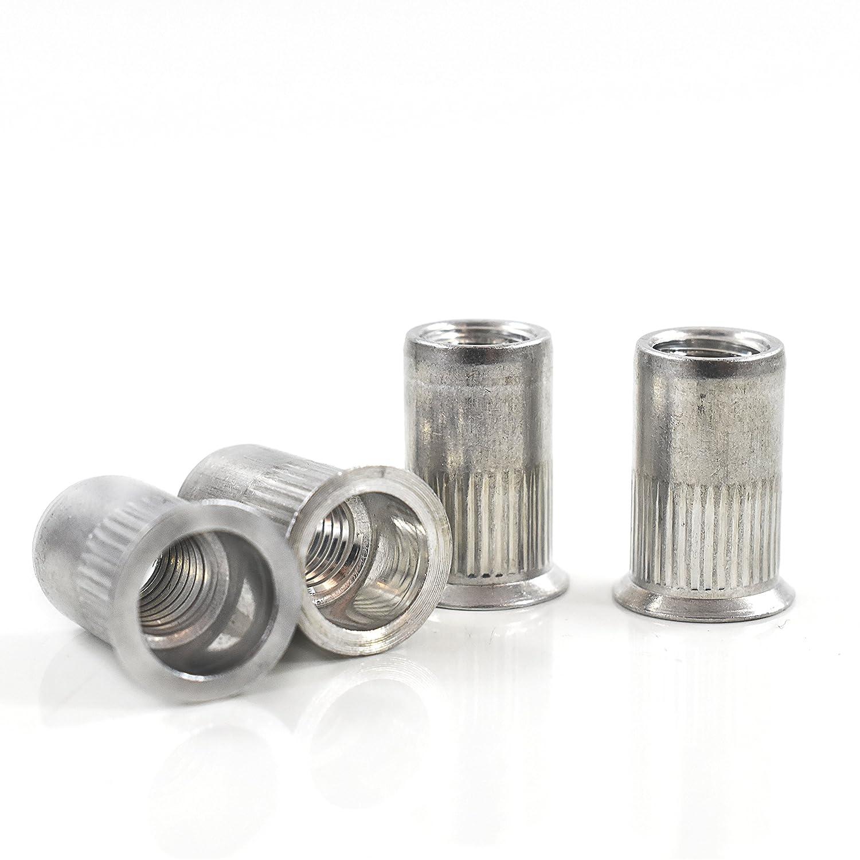 Pack of 100 x M12 Aluminium Countersunk Grooved Rivnuts Falcon Workshop Supplies Ltd