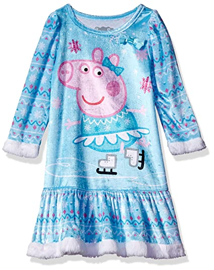 278c4f960a Amazon.com  Peppa Pig Girls  Toddler Panne Nightgown  Clothing