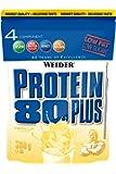 WEIDER Protein 80 Plus Eiweißpulver, Vanille (Low-Carb, Mehrkomponenten Casein Whey Mix für Proteinshakes, 500g)
