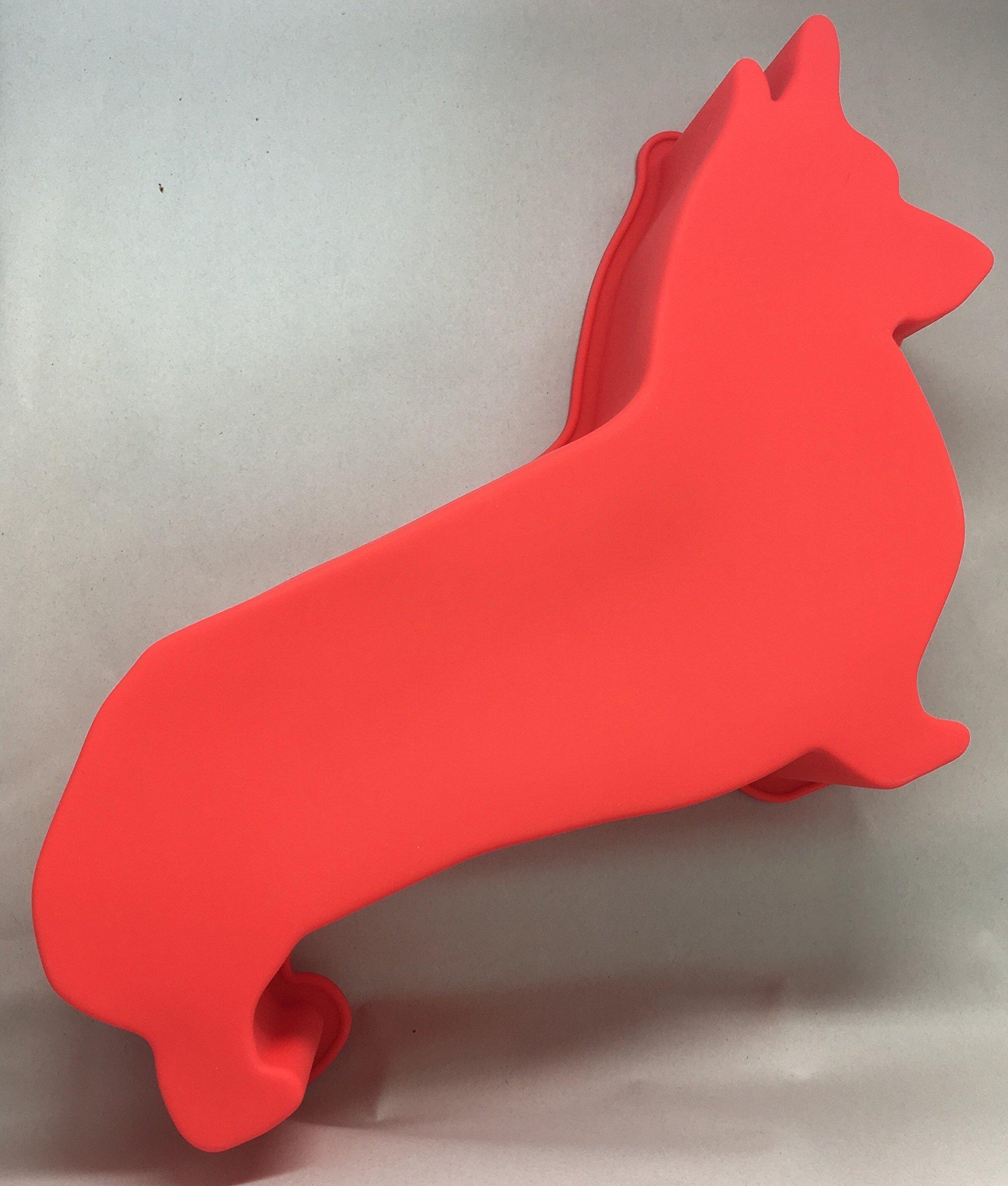 Corgi Dog Birthday Cake Pan Silicone Large Red