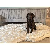 iHappyDog Luxury Faux Fur Orthopedic Dog Bed, Memory Foam Dog Bed​ for​ Small, Medium, Large and XL Pets, Fluffy Pup Rug…