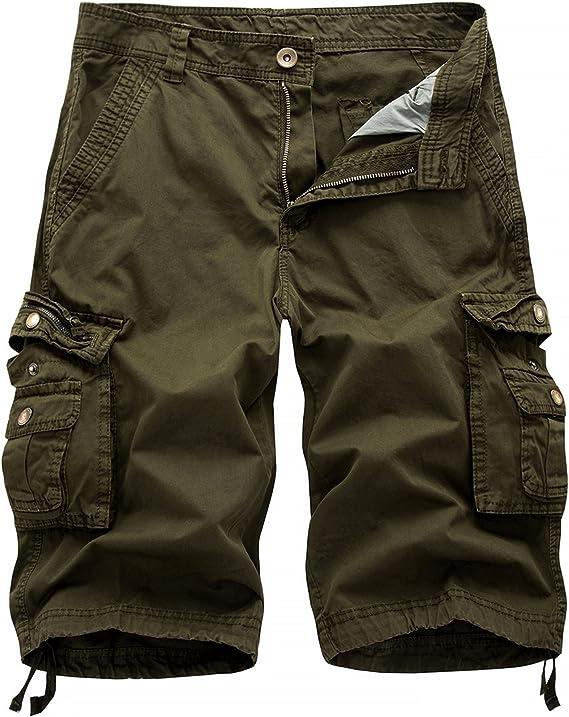 Homme Chino Coton Short avec ceinture taille 30 36 38 summer Smart Casual Wear