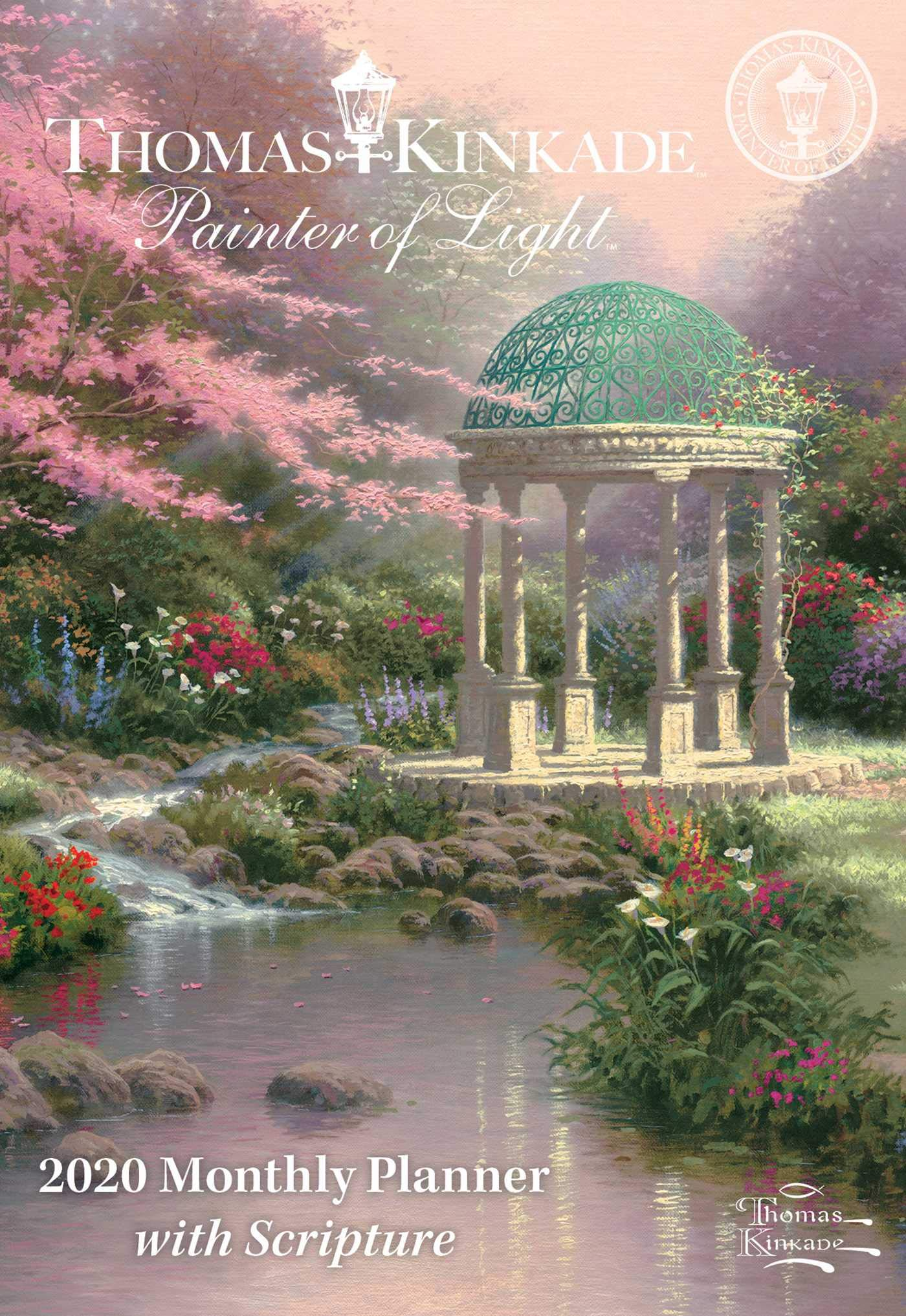 Thomas Kinkade Painter of Light with Scripture 2020 Monthly Pocket Planner Calen