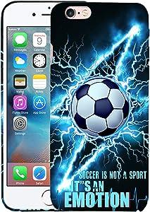 Glisten iPhone 6 Case, iPhone 6S Case - Soccer Lightining Design Printed Slim Profile Cute Plastic Hard Snap on Protective Designer Back iPhone 6 Case/iPhone 6S Case