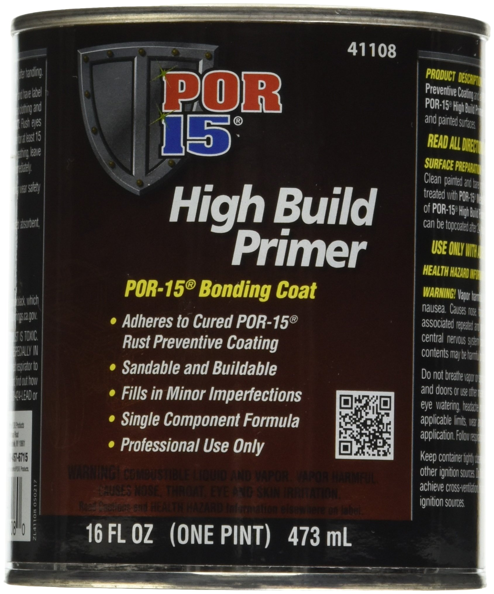 POR-15 41108 High Build Primer - 1 pint