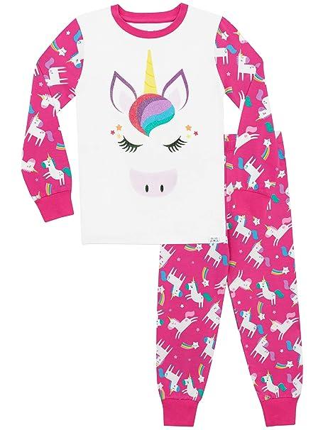 92a6cbe7e Harry Bear Pijamas de Manga Larga para niñas Unicornio Ajuste Ceñido   Amazon.es  Ropa y accesorios