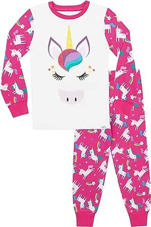 Harry Bear Pijamas de Manga Larga para niñas Unicornio Ajuste Ceñido